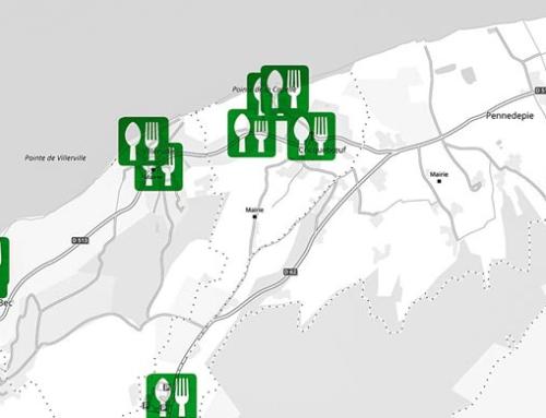 Symboles sur fonds routier en niveaux de gris (ajouts interactif)