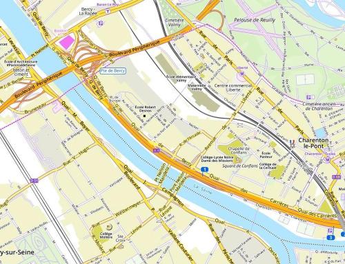 Fonds routier (niveau ville) OpenStreetMap + données publiques